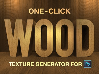 One-Click Wood Generator For Photoshop freebie free photoshop actions woodgrain pattern texture wood