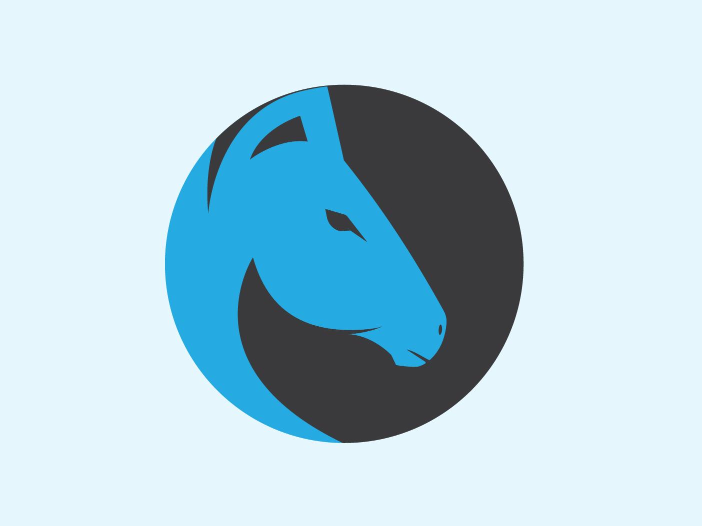 Horse1 illustrator design logo flat