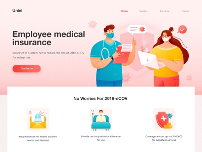 Medical Service Website 02 virus pneumonia masks 2019-ncow 2019-ncow computer outpatient service inquiry employee youth letter insurance specialist be hospitalized health stethoscope patient illness doctor medical