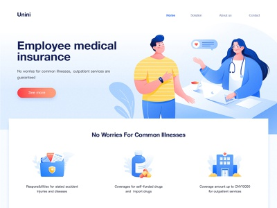 Medical Service Website 01 web icon computer outpatient service inquiry employee youth folder medicine bottle pill insurance specialist hospital health stethoscope patient illness doctor service medical