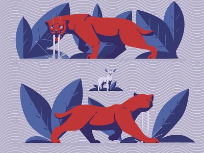 Fear design pillow animals deer sketching artist vector illustration vectorart tiger smilodon digitalillustration digitalart artwork adobeillustrator vector animal art drawing illustration illustrator