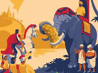 Illustration for the book horse design art vector illustration sketch history food coolinary india elephant vectorart digitalillustration design adobeillustrator digitalart animal vector art drawing illustration illustrator