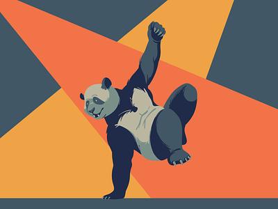 Dance pandas panda bear bear vintage dancing dance wildlife art wildlife animal art panda digitalillustration artwork design adobeillustrator digitalart animal vector drawing illustration illustrator