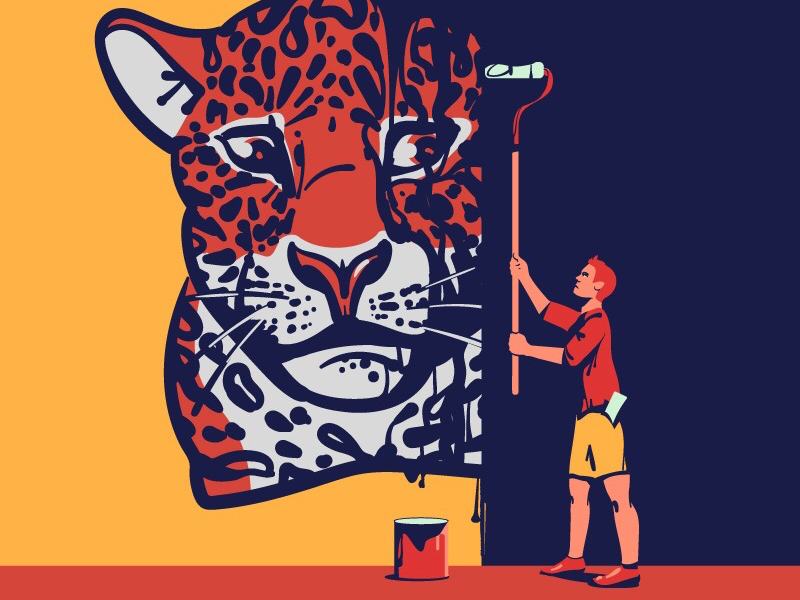 Wall Painting Save Yasuni By Nick Senin On Dribbble