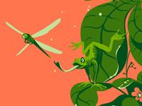 Hunting dragon fly