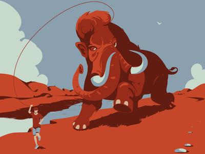 Happiness digitalillustration mammoth graphicdesign adobeillustrator digitalart animal vector drawing art illustration illustrator