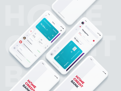 Home Credit Bank Dark Theme sidebar navigation home credit cards ui finance branding banking design bank ux ui ios mobile app