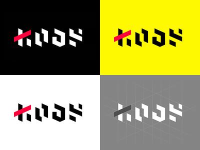 KODE. Logo concept brandmark creative logo design logotype linework cyberpunk minimal flat typography vector branding logo illustration design