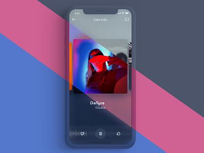Music app concept player ui userinterface sketch app music music app icon ux ui design illustration ios mobile app