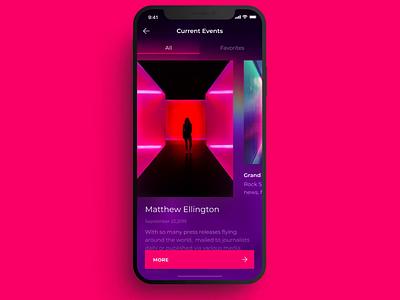 Event concept design ux ui motion design ios mobile app
