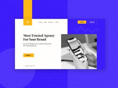 Website UI Landing Page Concept Design psd template effects web banner landing page template business landing page website mockup website design website web templates landing page advertising