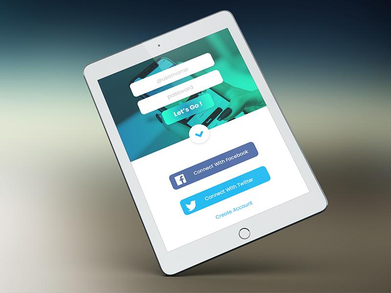 Apps Screen singup sign in log in app uiux