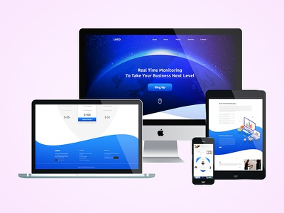Landing Page homepage design psd template ui  ux design landing page ui  ux