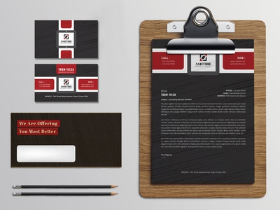 Stationery Branding Elements corporate branding graphic stationary design small branding letter head business card branding graphic design design psd template