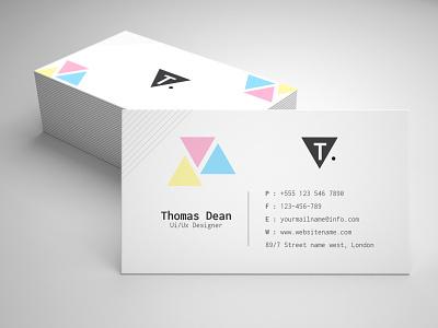 Minimalist Business card typography branding design graphic vector corporate branding psd template business card card design logo business card design card
