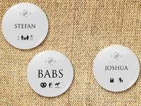 wedding pin button badge design
