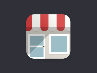 Flat shop app icon