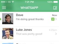 Whatsapp ios7 delete