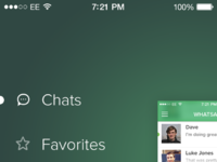 Whatsapp ios7 sidemenu