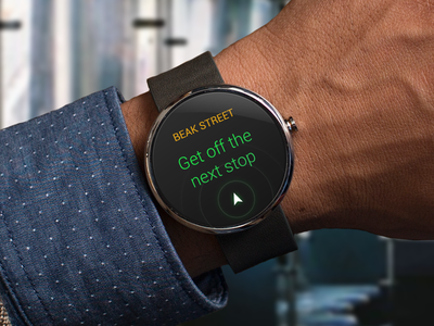 Android wear 'Next Stop' reminder android 360 bus citymapper location moto next notification reminder stop watch wear