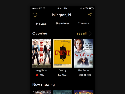 Sequel - Movie Showtimes app sequel movie showtimes iphone ios app movies poster