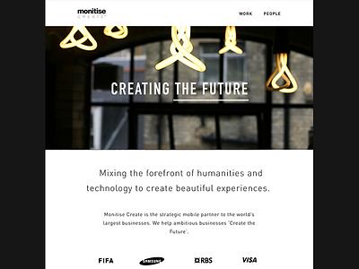 Monitise Create Website monitise create website design redesign web