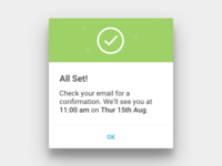 Material Design Dialogs for Hailo