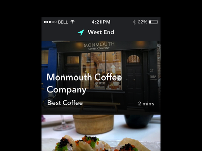Best Places best places food concept ios side project