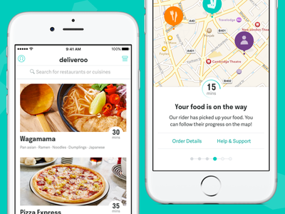 New Look: Deliveroo for iOS rebrand iphone ios app deliveroo