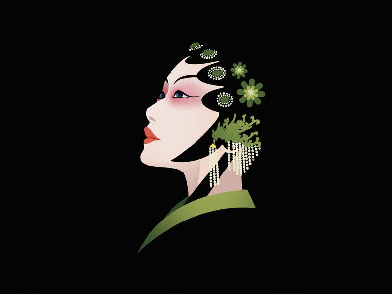 JIANG JIANG CAI-128 china 中国 中国戏曲面孔 chinese peking opera chinese culture chinese opera faces traditional opera theatrical mask illustration