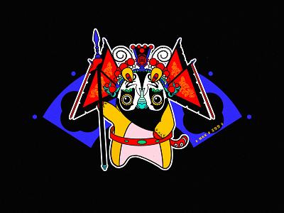 JIANG JIANG CAI-129 中国戏曲面孔 中国 china chinese peking opera chinese culture chinese opera faces traditional opera theatrical mask illustration