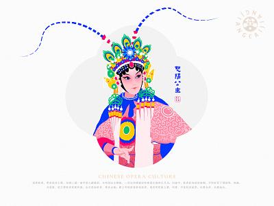 JIANG JIANG CAI-134 中国戏曲面孔 中国 china chinese peking opera chinese culture chinese opera faces traditional opera theatrical mask illustration
