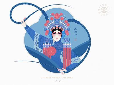 JIANG JIANG CAI-136 中国 中国戏曲面孔 china chinese opera faces chinese culture chinese peking opera traditional opera theatrical mask illustration