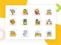 Children's hospital icon design