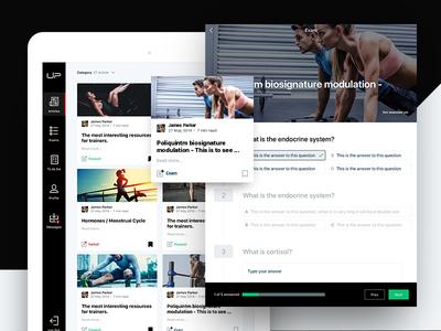 Gym internal tool ux ui app article blog survey exam fitness ios ipad gym