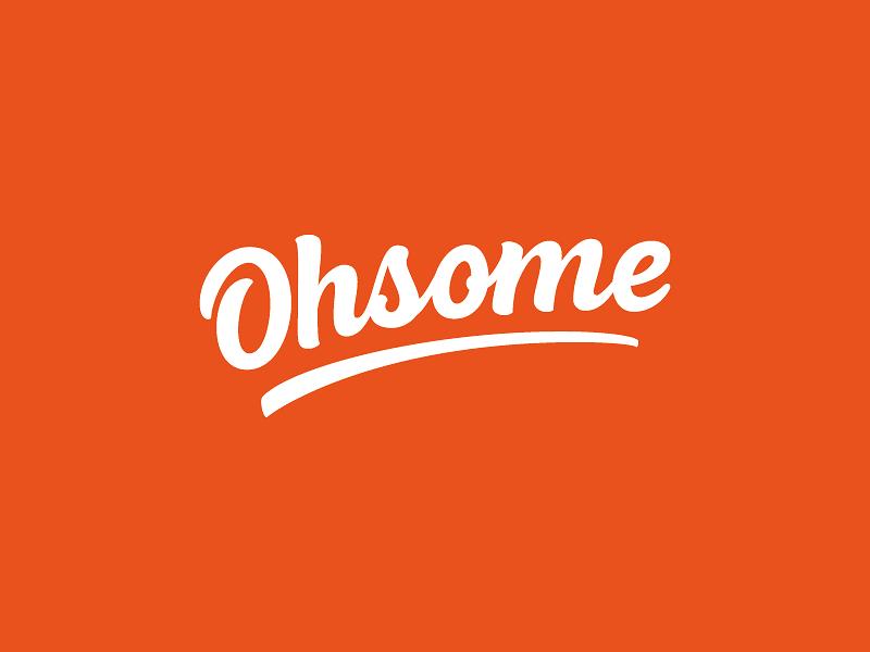 Ohsome Logotype design illustrator logotype logo branding vector