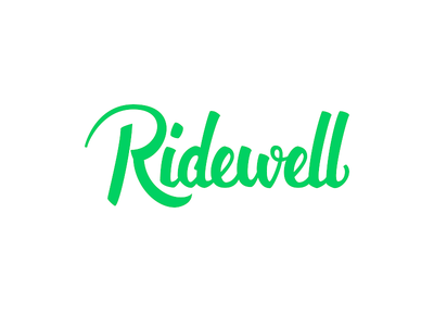 Ridewell Logo Lettering
