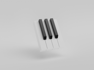 Abstract Piano Rendering Study