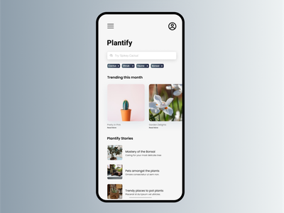 Plantify - Plant App Design @uiux design @uidesign @uiux @webdesign @prototyping typography ux ui creative design graphic design adobe illustration @daily-ui @interfacely
