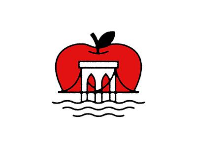 Brooklyn Bridge Apple brooklyn bridge bridge badge logo big apple apple new york nyc
