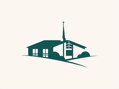 Church Silhouette Logo icon logo building illustration branding church branding religious church church logo