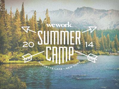 Summer Camp Lock Up 2 camp design logo typography summer camp wework