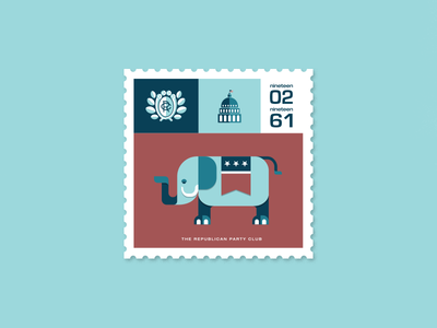 Republican Party Club Stamp