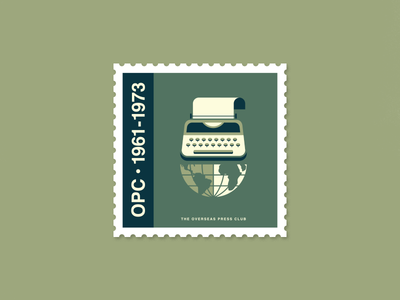 Overseas Press Club Stamp