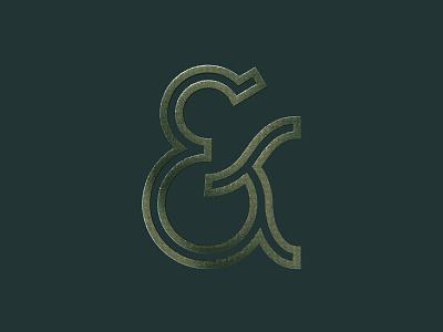 Custom Ampersand texture typography design ampersand