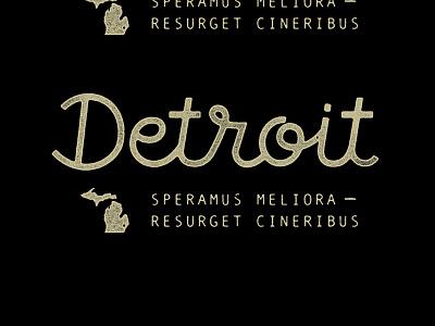 Detroit Script type michigan lettering typography script detroit