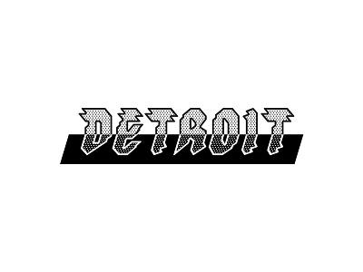 Detroit Type halftone detroit typography type