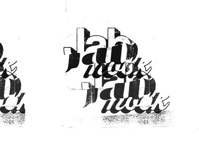 Jab Hook mural typography collage