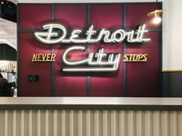 Detroit City Never Stops Neon