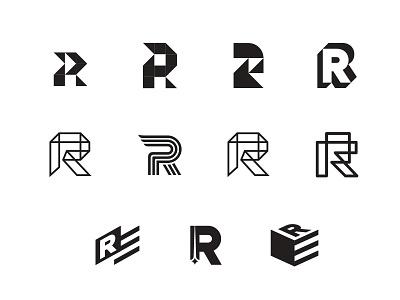 R Logos typography letters r staffing graphic design branding logo
